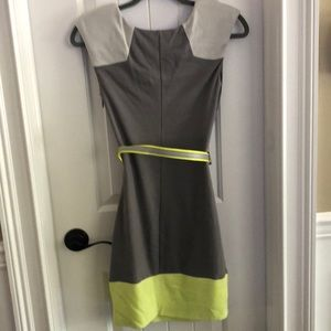 bebe Dresses - Bebe dress grey with yellow size XS